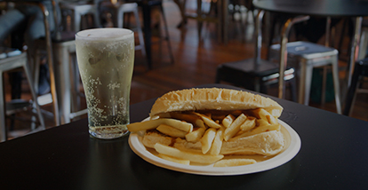 Happy Hour chip roll & cider offer UOW UniBar Wollongong
